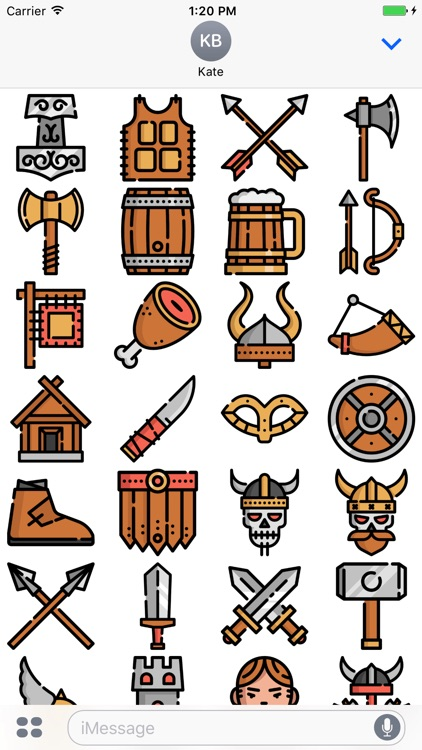 Vikings Stickers Emojis
