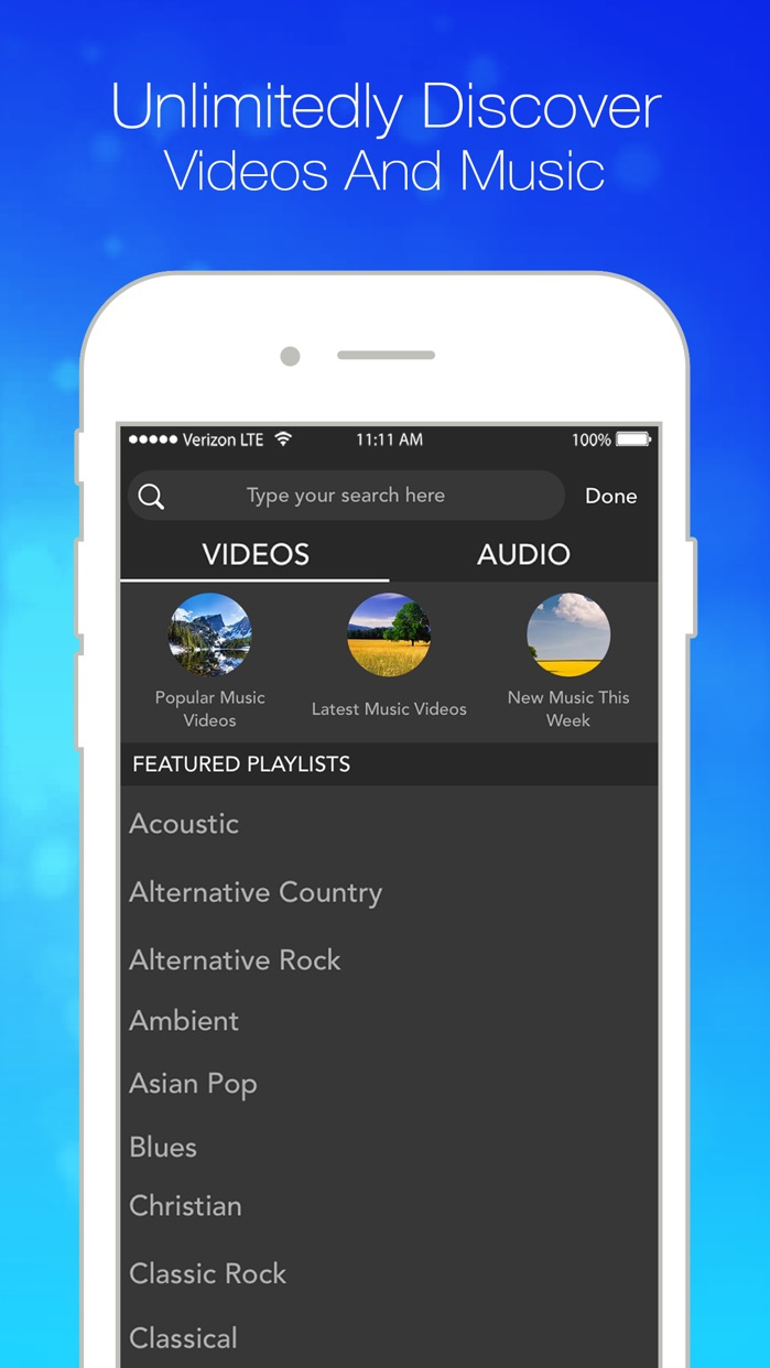 Musinow - Unlimited Fr.ee Music & Video Player Screenshot