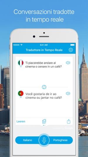 Traduttore in tempo reale traduttore voce testo su app for Traduttore apple
