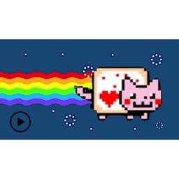 Animated Cute Nyan Cat Sticker