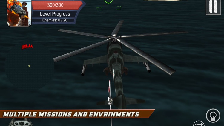 Helicopter Shooting Strike