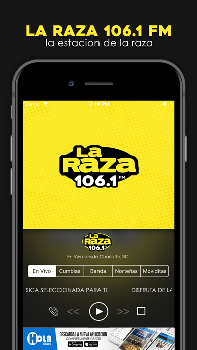 La Raza 106.1 screenshot one