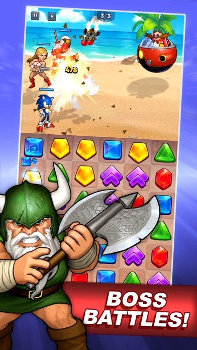 SEGA Heroes: Match 3 RPG Game screenshot 5