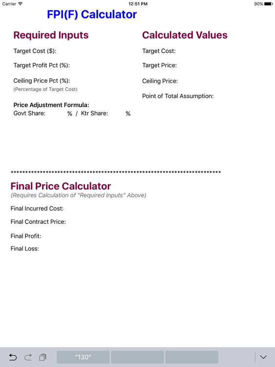 FPIF Calculator screenshot-0