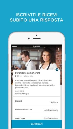 Cornerjob offerte di lavoro su app store for Subito offerte di lavoro milano