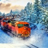 Snow Train Drive Simulation 3D