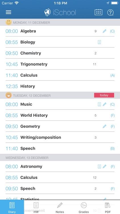 iSchool - School diary