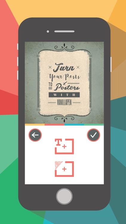 VanillaPen - Poster maker screenshot-0