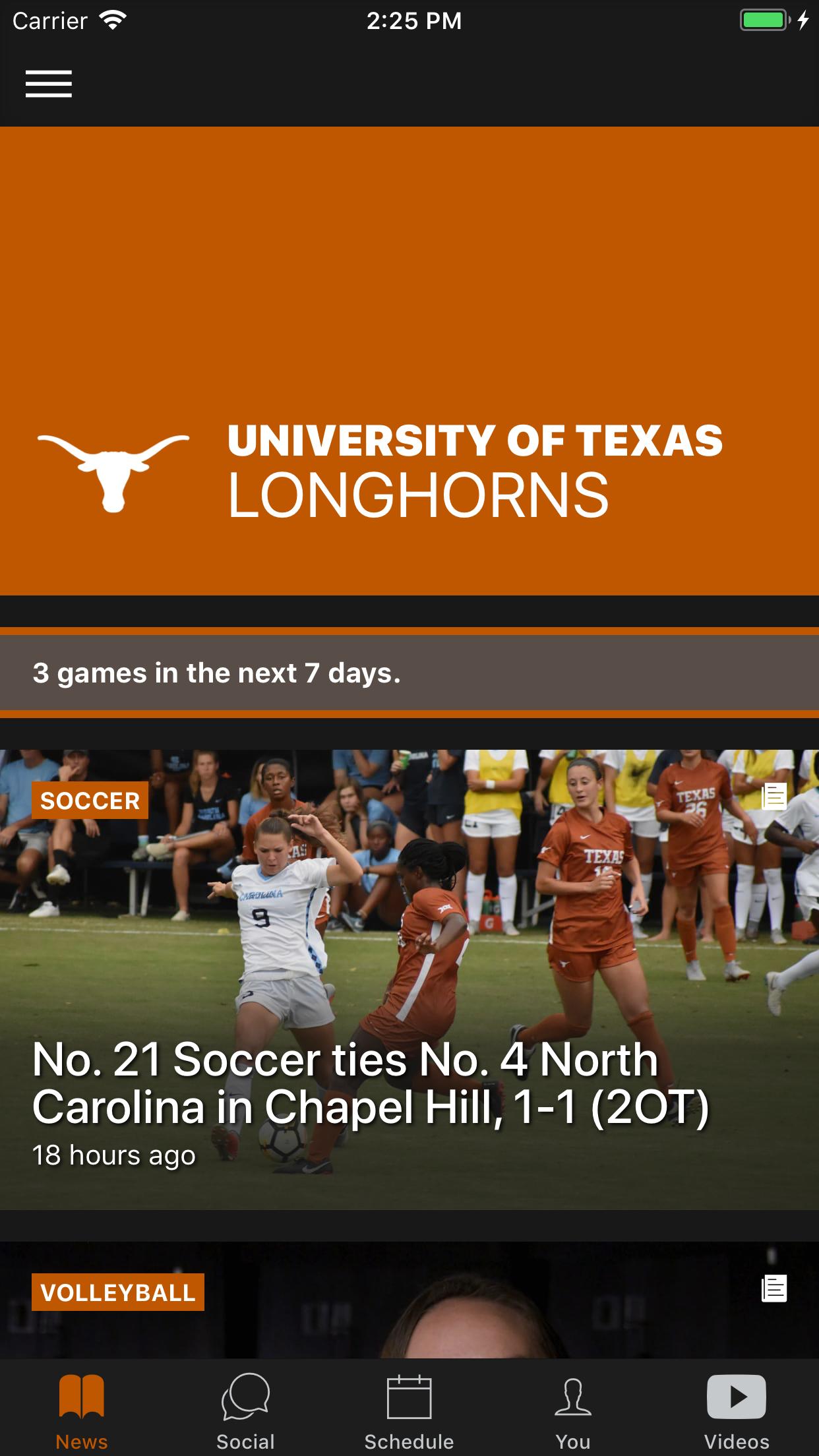 Texas Longhorns Screenshot