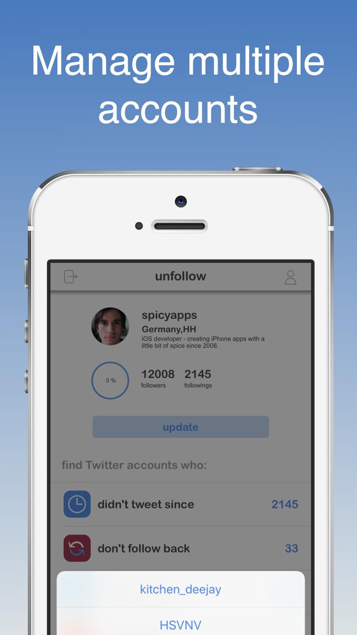 unfollow for Twitter Screenshot