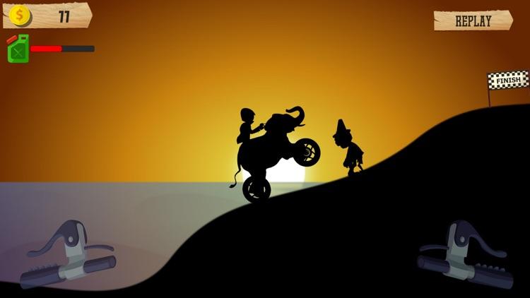 Shadow Animals Motorcycle Ride
