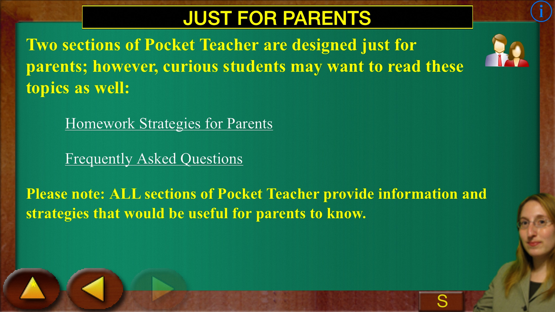 A Pocket Teacher Screenshot