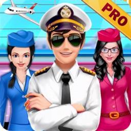 Airplane Cabin Crew Girls Pro