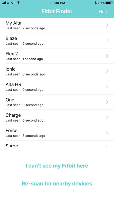 Fitbit Finder - lost Fitbitのおすすめ画像2