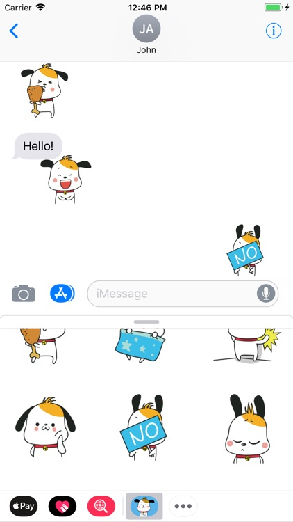 Little Puppy Animated Stickers