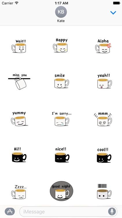 CaffeLatte - Cute Cup of Coffee Emoji Sticker