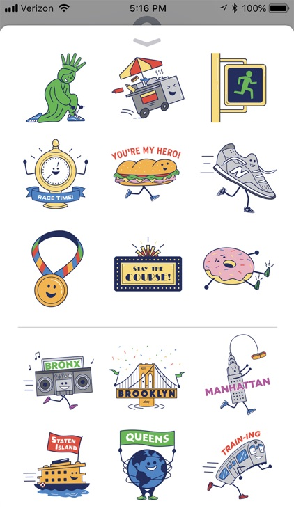 TCS NYC Marathon Sticker Pack
