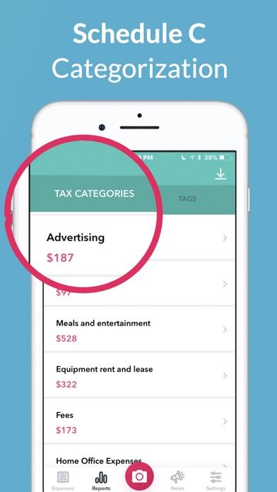 1tap receipts: Tax & Expenses Screenshot