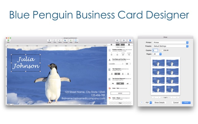 bp business card designer on the mac app store