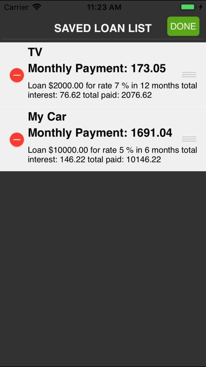 $ Loan Calculator screenshot-4