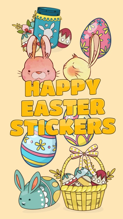 Bunny Happy Easter Stickers