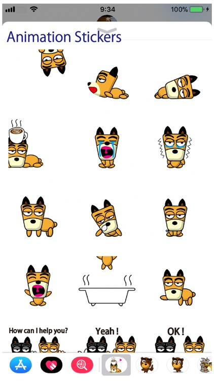 TF-Dog Animation 7 Stickers