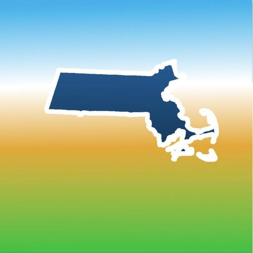 Aqua Map Massachusetts Lakes