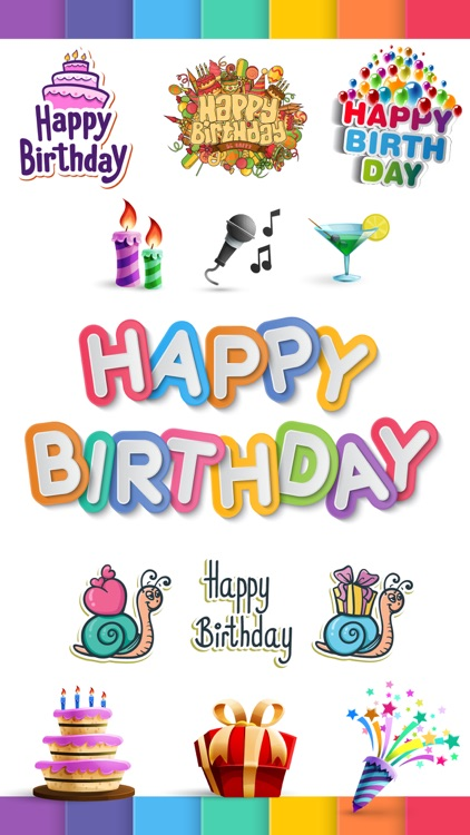 Happy Birthday Stickers Pack