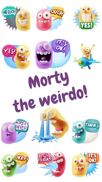 Morty the Weirdo Funny Emojis