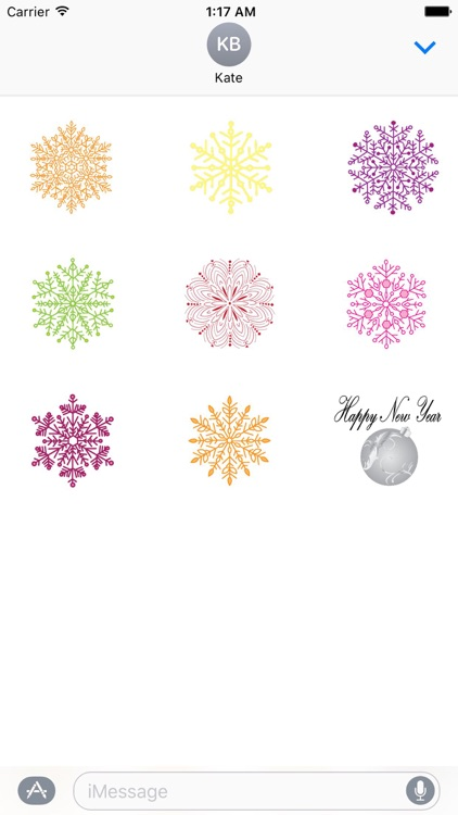 Animated Colorful Snowflakes
