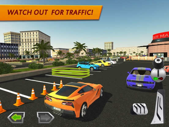 D Shopping Mall Car Parking Games