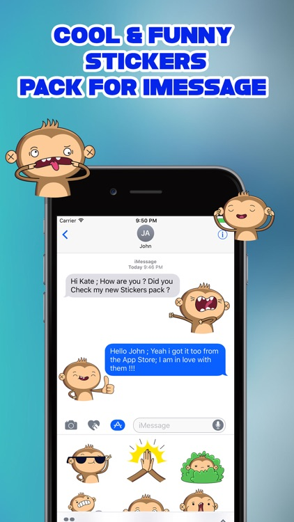 Funny Little Monkey Stickers