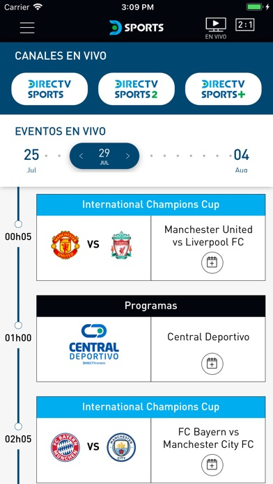 Screenshot for DIRECTV Sports in Chile App Store