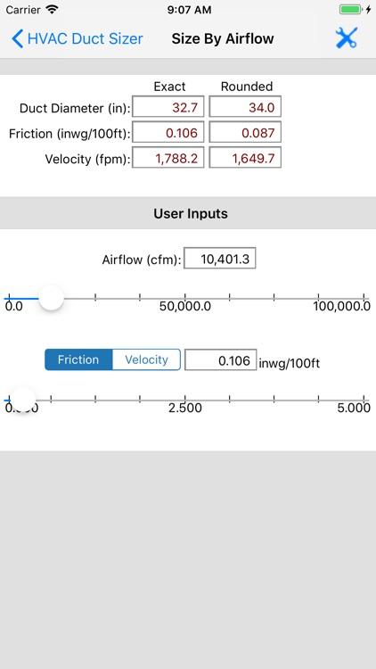 HVAC Duct Sizer screenshot-6