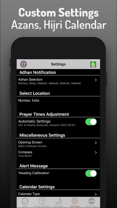 Islamic Qibla - Prayer Times screenshot 5