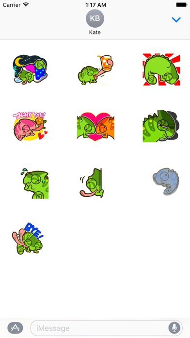 Cute Chameleon Sticker screenshot 3