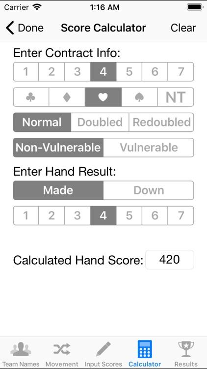 Duplicate Bridge Scoring screenshot-3
