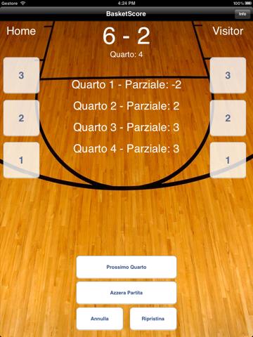 BasketScore - náhled