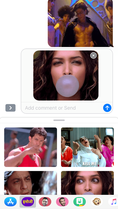 Hindimoji - Animated Stickers screenshot one