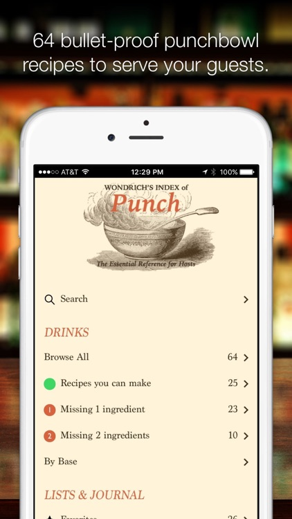 Wondrich's Index of Punch