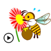 download Animated Honey Bee Sticker