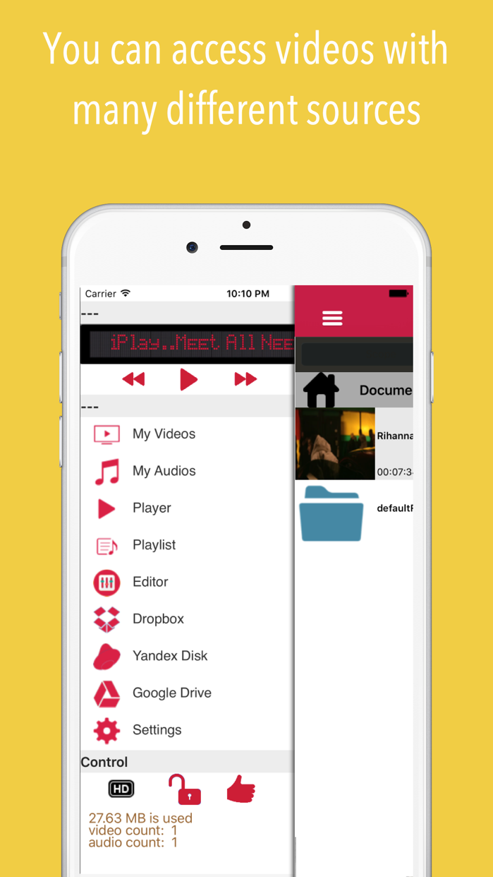 iPlay : Music Video Cloud Screenshot
