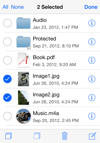 Screenshot of USB Disk Pro for iPhone