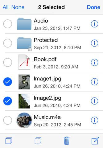 Скриншот из USB Disk Pro for iPhone
