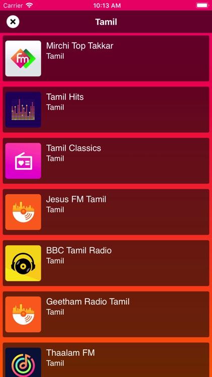 Tamil FM Radio Stations India