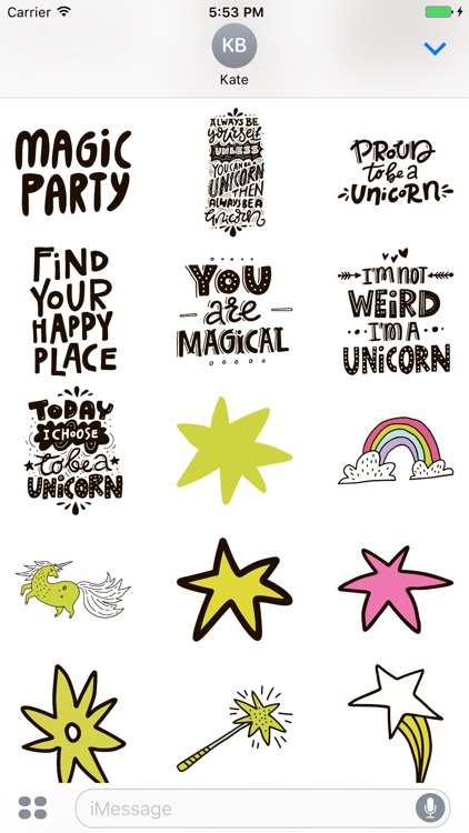 Believe in Unicorns - Sticker Pack