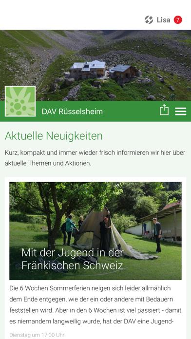 DAV Rüsselsheim screenshot 1
