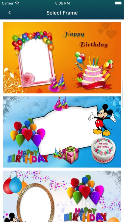 Birthday Photo Frames & Cards screenshot-3