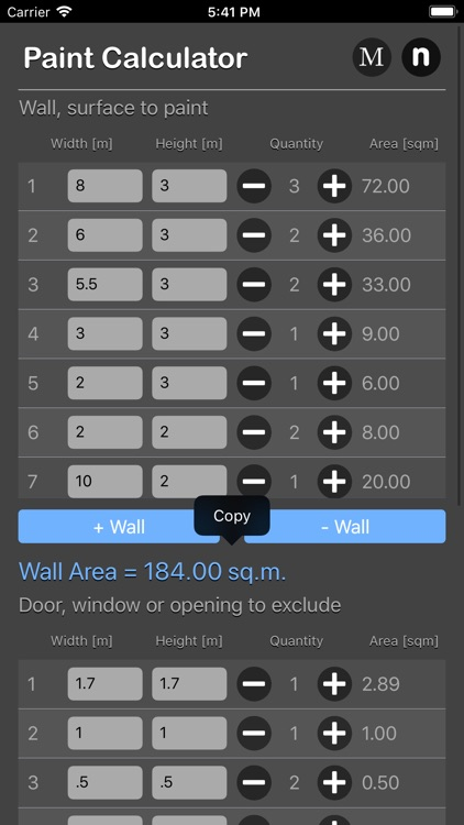 Paint Calculator Plus screenshot-3