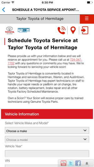 Taylor Toyota Of Hermitage On The App Store